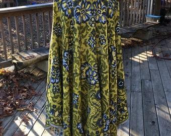 Beautiful Reversible Woven Blanket Poncho