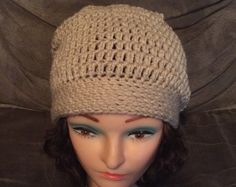 Maddi Slouch Hat in Oatmeal