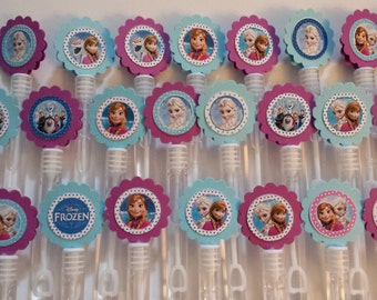 Frozen Mini Bubble Wands birthday party favors - set of 15