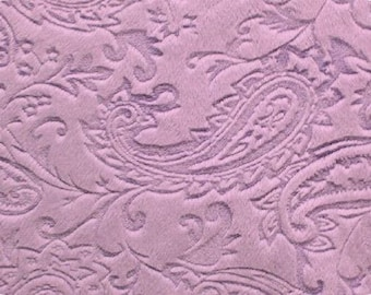 So Luxurious! Paisley Cuddle (Minky) in Lavender from Shannon Fabrics by the Yard