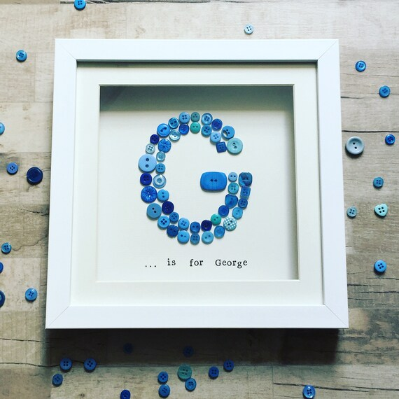 Button Letter Frame