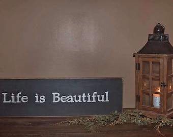 Life is Beautiful Wall Decor