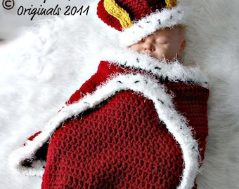 Crochet Prince or Princess Cocoon and Hat Crochet Pattern PDF530