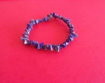 Genuine lapis lazuli stone chips Stretch Bracelet
