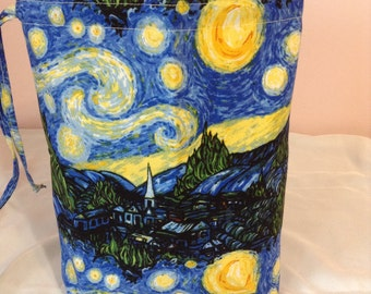 Knitting Project Bag - Van Gogh Starry Night