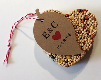 50 Wedding favors for guests bird seed favors