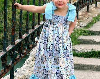 Helen's Maxi Dress PDF Pattern sizes 12-18 months to 8 girls