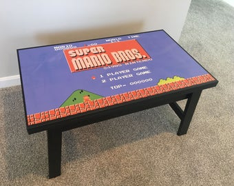Super Mario Bros 8 Bit Videogame Nintendo NES Coffee Table