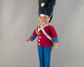 Vintage Danish Royal Palace Guard Plastic Doll with Open/Close Eyes Denmark