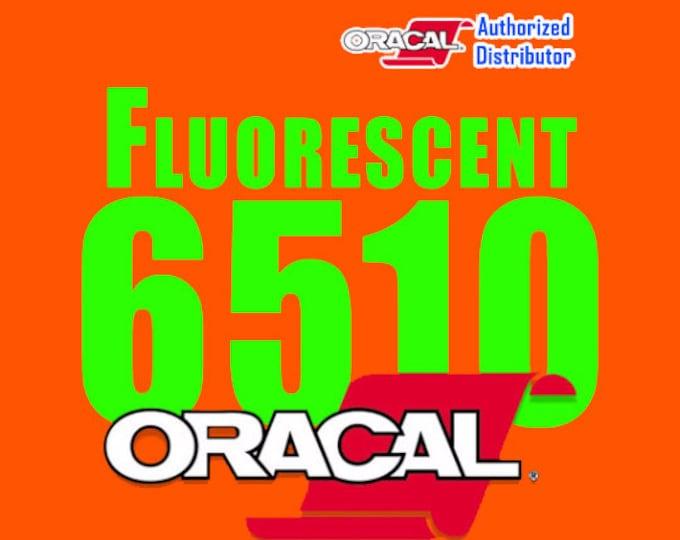 """12""""x10ft (continuous) Oracal 6510 Fluorescent Vinyl"""