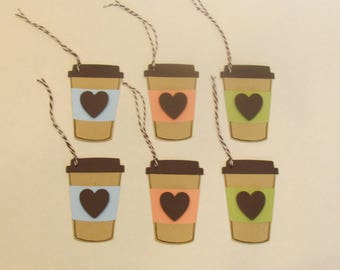 6 Tags - COFFEE CUP