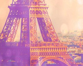 Clearance sale - Paris is a Feeling - dreamy Paris decor, girly, Eiffel Tower photo, Paris photography, for her, France photograph