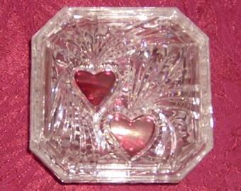 Double Heart Trinket Box