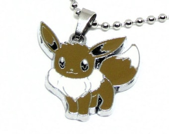 """Eevee Necklace 18"""" Stainless Steel Ball Chain"""