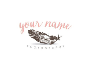 Photography Logo & Watermark - Pre-made - Feather