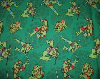 REMNANT-7/8 yard Licensed cotton fabric-Ninja Turtles