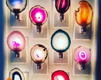 Royal Suzie Agate Slice Night Lights // Royal Suzie Deisgn // Buy More and Save // Royal Suzie Boho Decor // Nightlight // U.S.