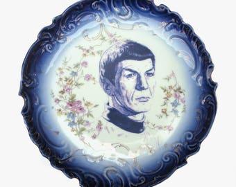 """Spock Fluss blau Porträt Platte 12,5"""""""