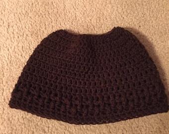 Custom Made Crocheted Messy Bun Hat