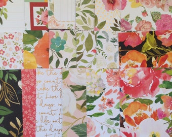 Wildflower - 4x6 Paper Pack, DCWV, Scrapbook Paper, Planners, Mail Art, Mail Flip Books, Card Making, Tags