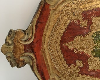 Vintage Florentine gilt tray