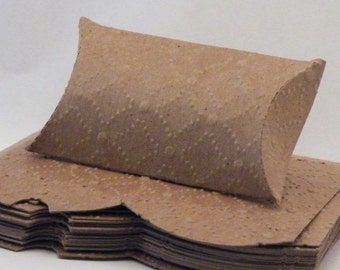 20 Pillow Box, Kraft Pillow Box, Embosses Pillow Box, Pillow Gift Box, Craft Gift Box, Pillow Boxes, Kraft Card Stock