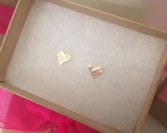 Small Heart Studs - Sterling Silver