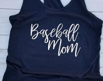 Baseball Mom Tank, Baseball Tank, Mom Tank, Baseball