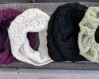 Made-to-Order Super Soft Alpaca Lace Knit Cowl
