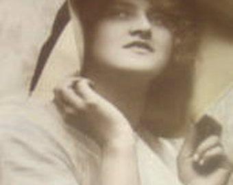 LAST CHANCE SALE Vintage rppc of a Pretty Lady