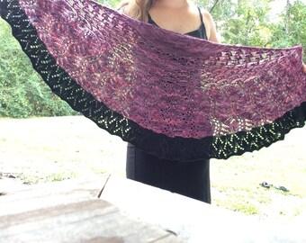 Half circle lace shawl, hand knit lace shawl, hand knit shawl, mori girl  shawl
