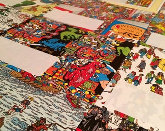 Handmade Envelopes Where's Wally/Where's Waldo. Letter Writing Set  Handcrafted Pack of 5