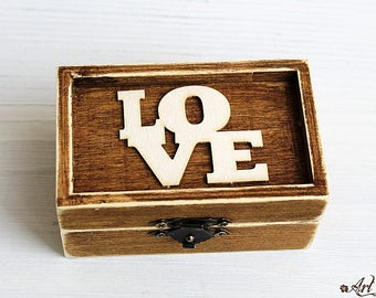 Ring Bearer Box Wedding Ring Box Personalized Ring Box  wedding ring holder Wedding Ring Holder Pillow Bearer Box Wood Box