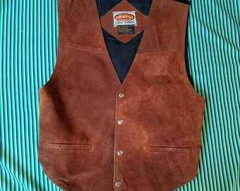 Toffee Suede Snap Up Vest