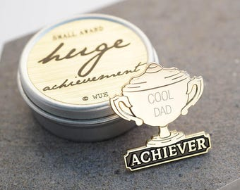 Personalised Achievement Pin Badge
