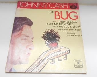 Vintage 1970 Copyright, Johnny Cash The Bug (19-E) No record included