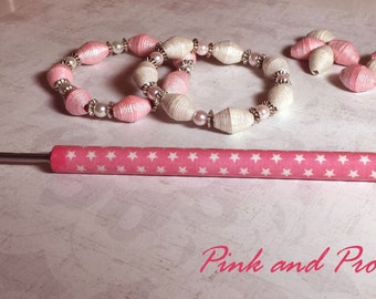 """Pink & Proud Kraft-i Roller - Paper Bead Roller / Tool from the Original Collection 1/8"""" or 3/32"""" - tutorial included"""