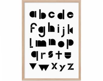 ABC Poster, ABC Big Poster / Black & White