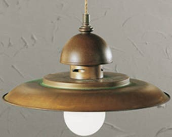 Italian Pendant, Pendant, Brass and Metal Pendant, Rustic Lighting, Cabin Lighting, Old World Lighting, Made in Italy