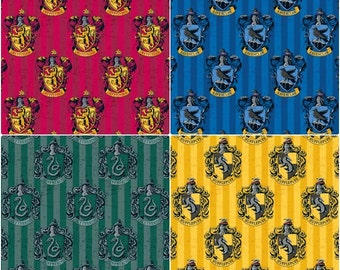 Harry Potter 238011 Digitally Printed Cotton Fabric by Camelot Cotton! [Choose Your Cut Size]