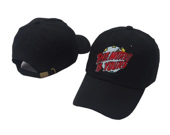 black the world is yours  baseball cap