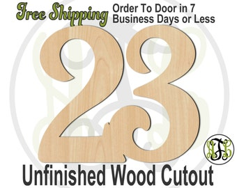 Single or Double Digit Number - 1012NoDC1- Cutout, Number, unfinished, wood cutout, wood craft, laser cut, wood cut out, DIY, Free Shipping