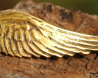 Angel Wing Bracelet Link with Loop in Gold Bronze, L-210A