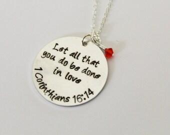 1 Corinthians 16:14 Necklace