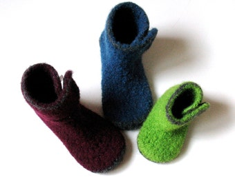 Felted Kids Slipper Crochet Pattern No. 10