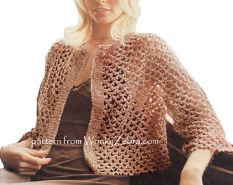 Vintage Irish Crochet Jacket Pattern PDF 620 from WonkyZebra