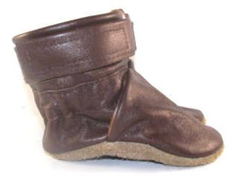6 to 12 Month, Soft Sole, Reclaimed Leather, Baby Ankle Boots, Soft Sole