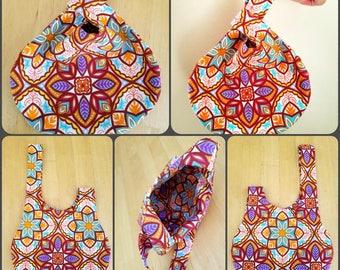 Japanese Knot Bag Small - Kaleidoscope style