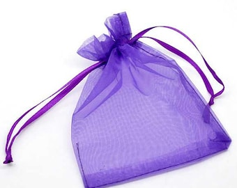 25 Organza bags, purple organza bags 9cm x 7cm, party favor bags, jewelry bags, mesh bags, wedding favor bags, birthday party bags, B316