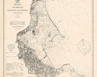 Plymouth, Kingston & Duxbury Harbors – 1875